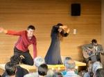 Tobias Fend, Meda Gheorghiu-Banciu und Florian Wagner in 'Titanic oder der Eisberg hat immer Recht', eine Produktion von Café Fuerte